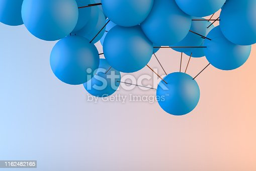 istock Global digital mesh network, Molecule, Blockchain 1162482165