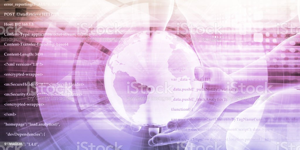 Global Digital Technology Concept stock photo