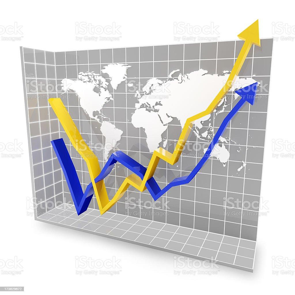 Global economic rebound royalty-free stock photo