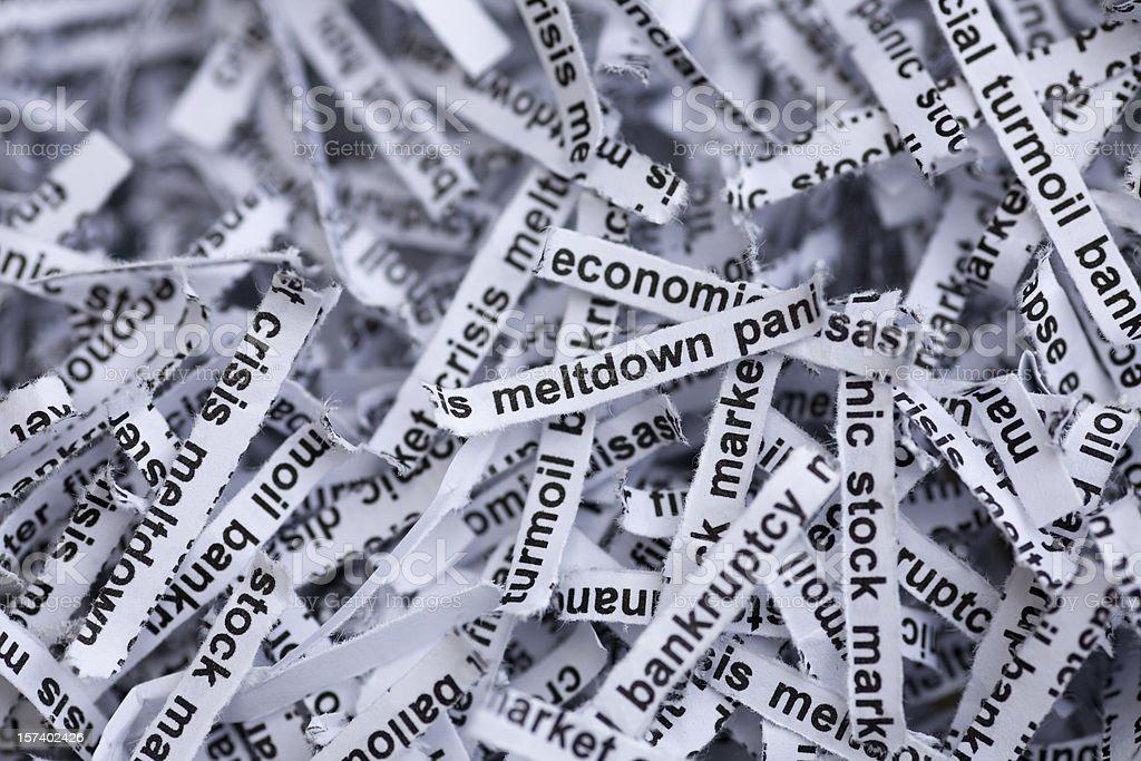 Global Economy and Housing Meltdown around the World royalty-free stock photo
