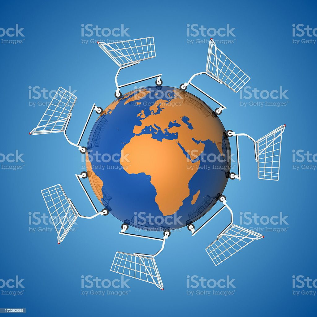 Global Economy: Europe and Africa XXL royalty-free stock photo