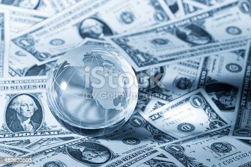 istock global economy Money background 482620503