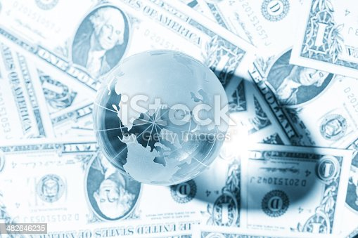istock global economy Money background 482646235