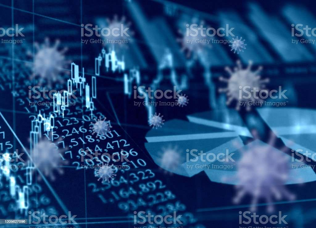 世界的な流行と経済的影響 - COVID-19のロイヤリティフリーストックフォト