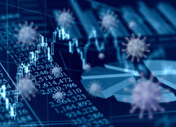 global epidemics and economic impact - covid 19 foto e immagini stock