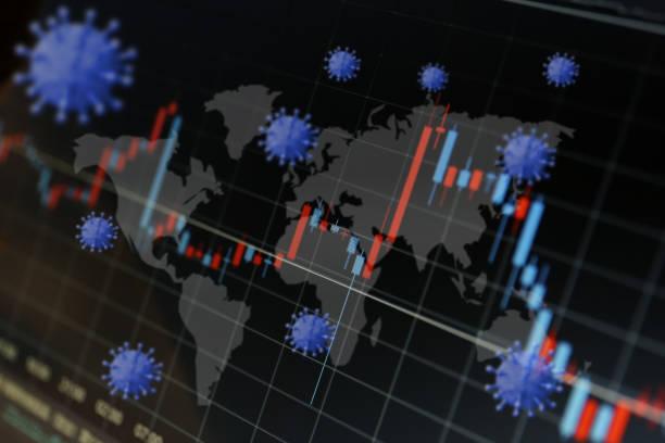 globale epidemien und wirtschaftliche auswirkungen - pandemie stock-fotos und bilder