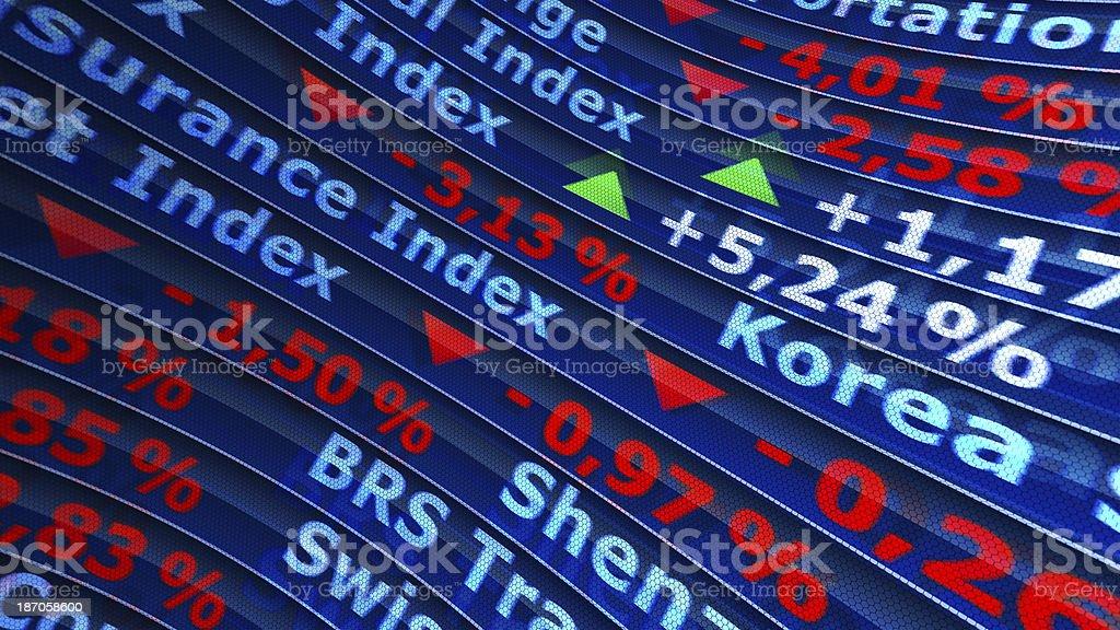Global Exchange World Indexes. royalty-free stock photo
