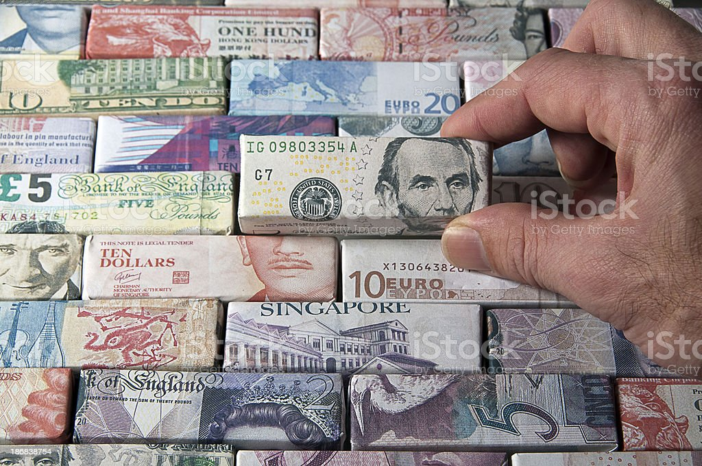 Global Finance and Banking world bank notes (Dollars) royalty-free stock photo