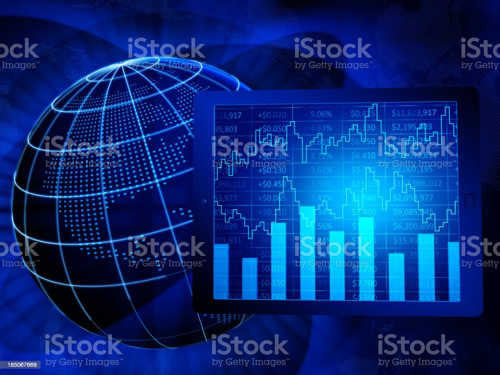Global finance, North America royalty-free stock photo