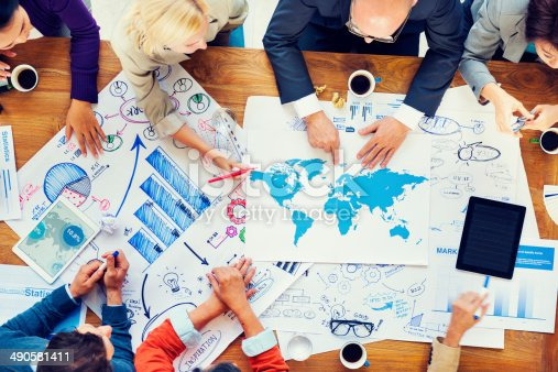 812513444istockphoto Global Financial Business Meeting and Planning 490581411
