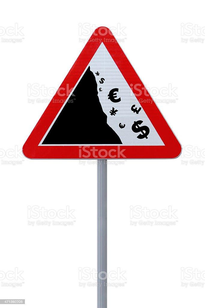 'Global Financial Crisis' Conceptual Road Sign stock photo