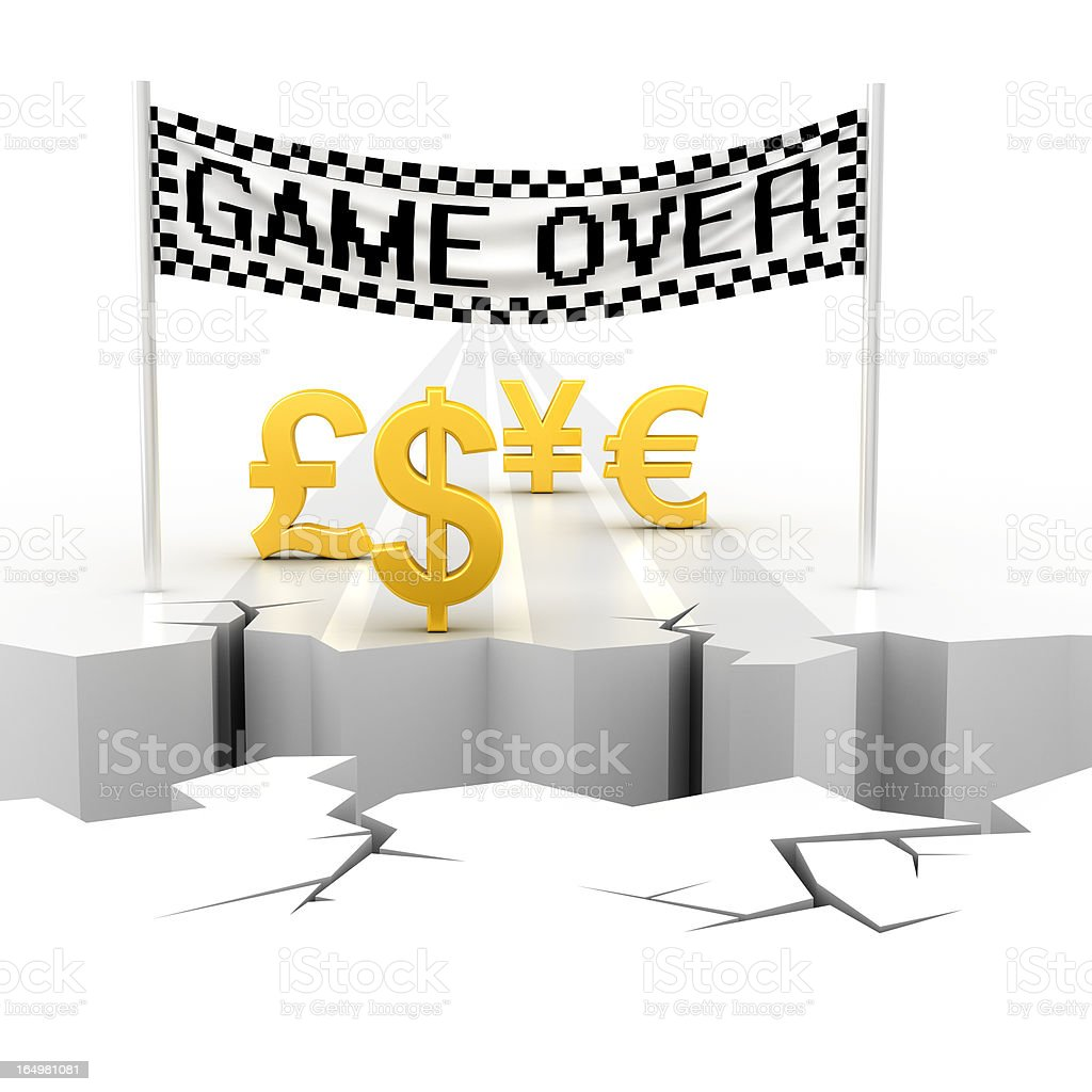 global financial crisis royalty-free stock photo