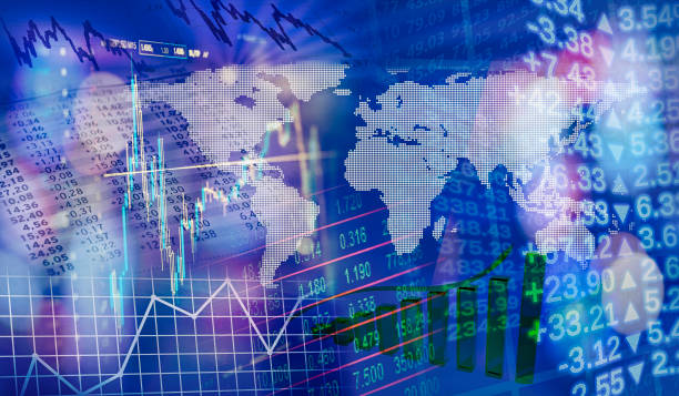 global financial markets - scambio commerciale foto e immagini stock