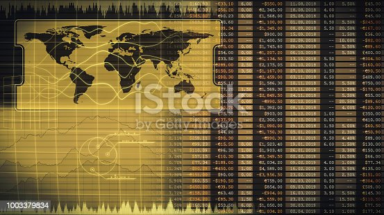 istock Global financial report with abstract business strategy infographics 1003379834