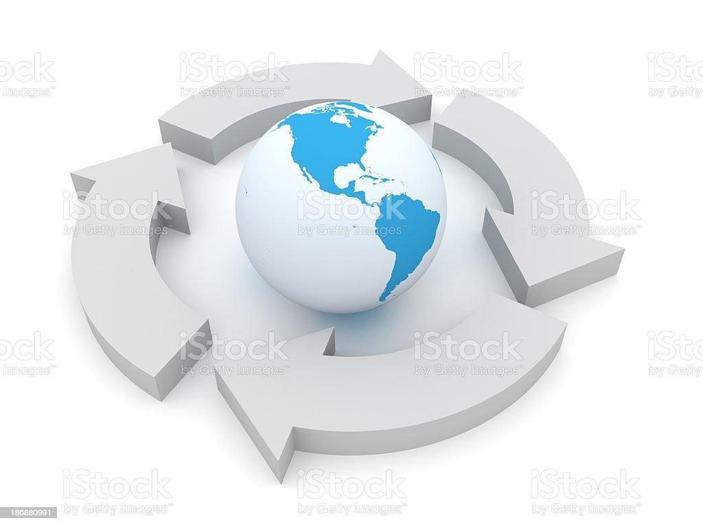 Global Flowchart royalty-free stock photo