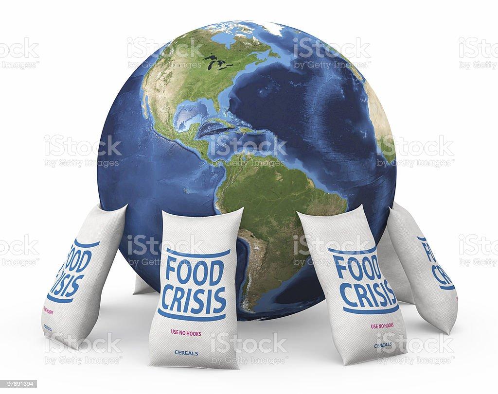 Global food crisis stock photo
