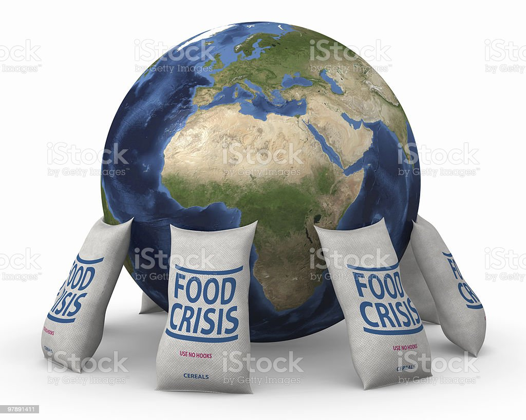 Global food crisis royalty-free stock photo