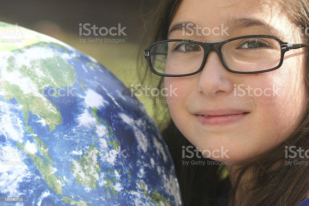 Global Girl royalty-free stock photo