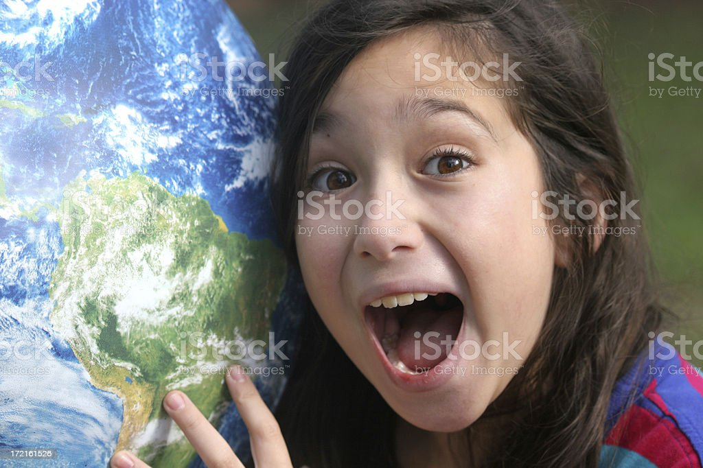 Global girl royalty-free stock photo