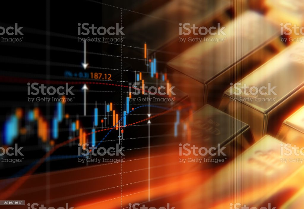 Global Gold Price Commodity Concept stock photo