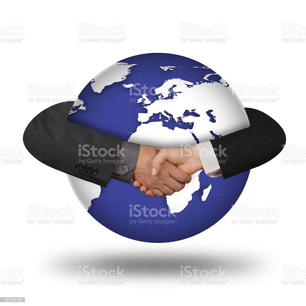 Global Handshake royalty-free stock photo