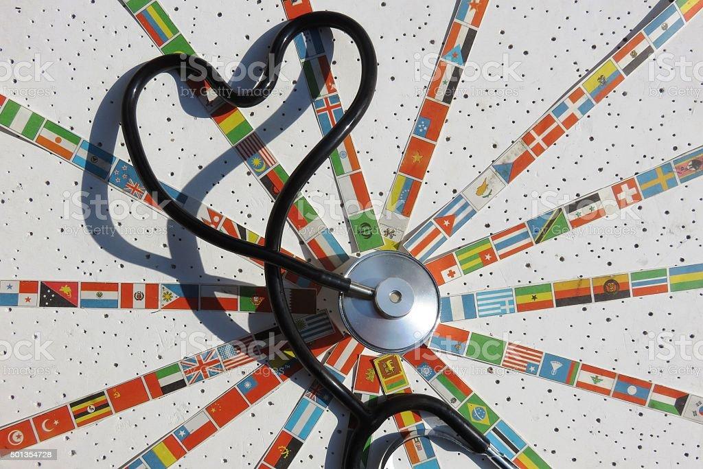 Global Health Concept- Diseases, plagues, global dangers... stock photo