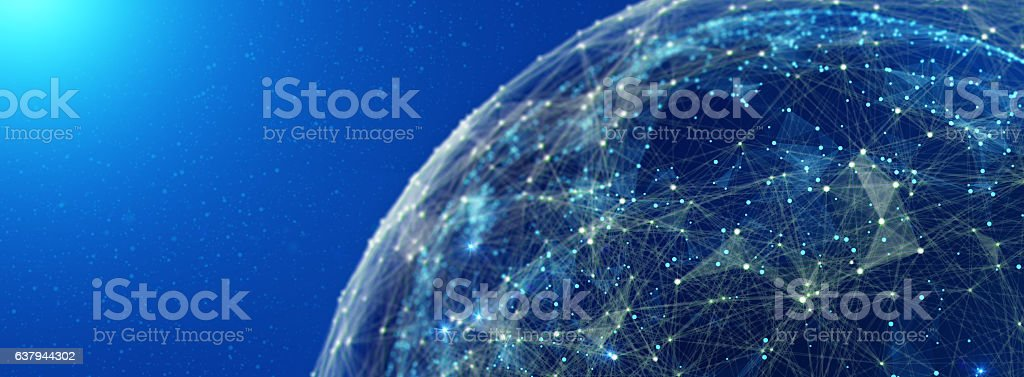 Global International Connectivity Background. 3D illustration stock photo
