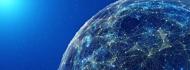 Global International Connectivity Background. 3D illustration ストックフォト