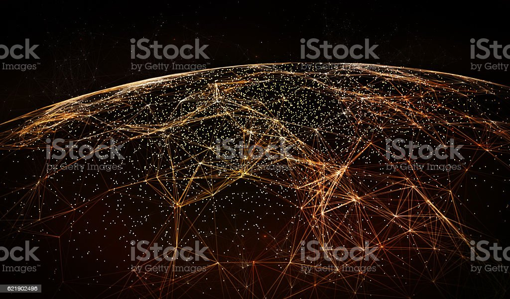 Global International Connectivity Background stock photo