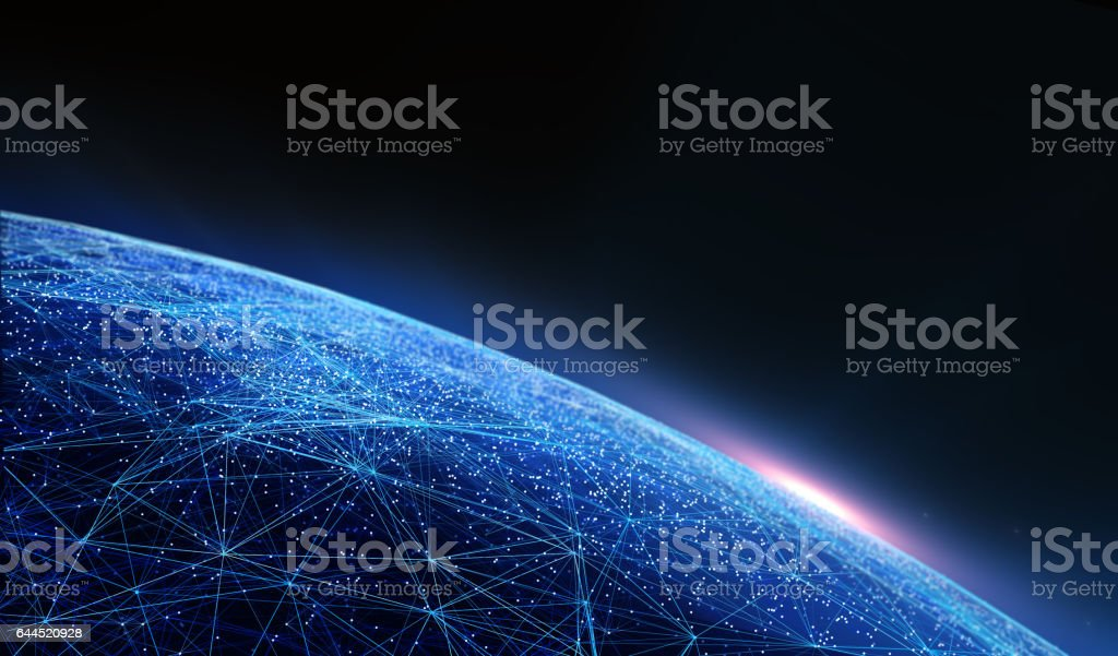 Global International Connectivity Background. stock photo