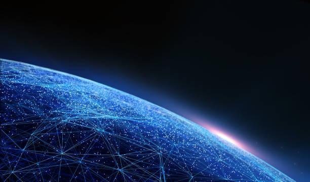 Fondo Global de conectividad internacional. - foto de stock