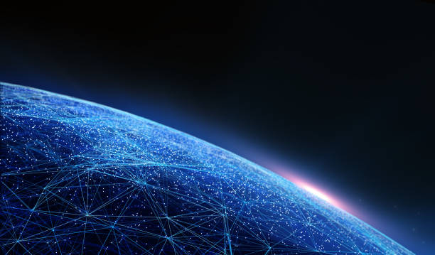 Global International Connectivity Background. stock photo