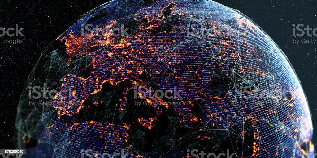 Fondo Global de conectividad internacional - Foto de stock de Abstracto libre de derechos