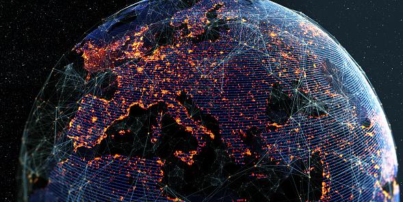 Fondo Global De Conectividad Internacional Foto de stock y más banco de imágenes de Abstracto