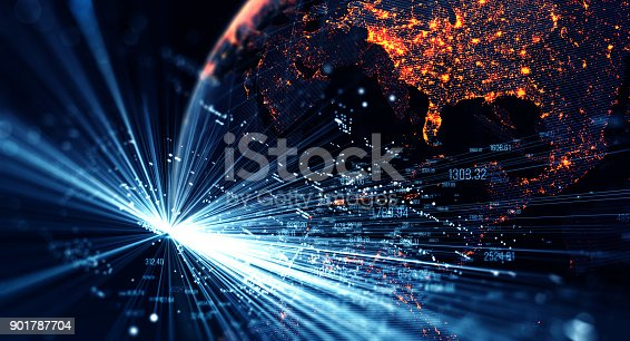 istock Global International Connectivity Background 901787704