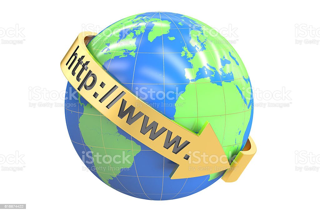 global internet communication concept, 3D rendering stock photo