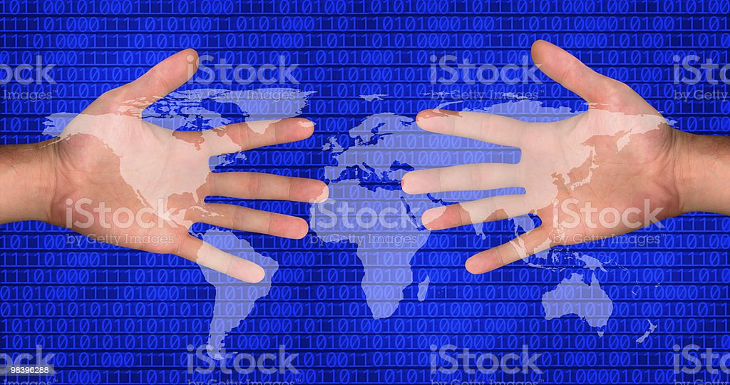 global internet communication royalty-free stock photo