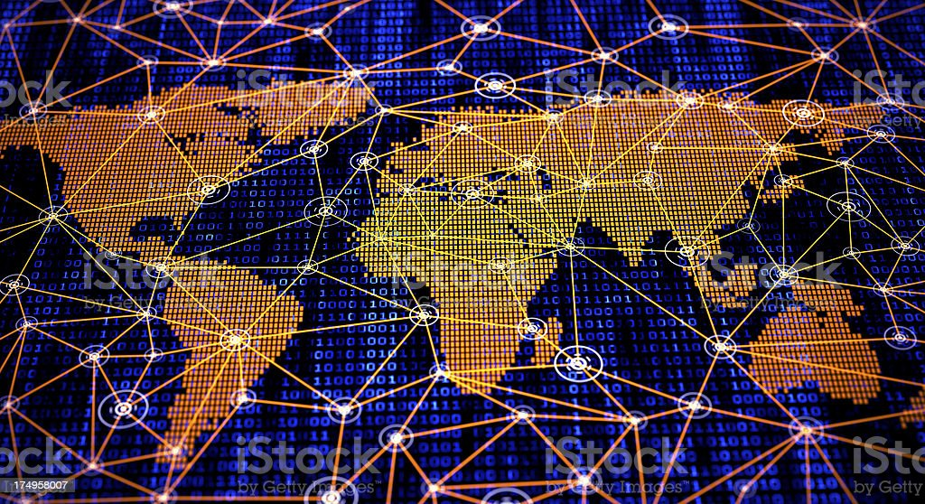 Global internet map network connection royalty-free stock photo