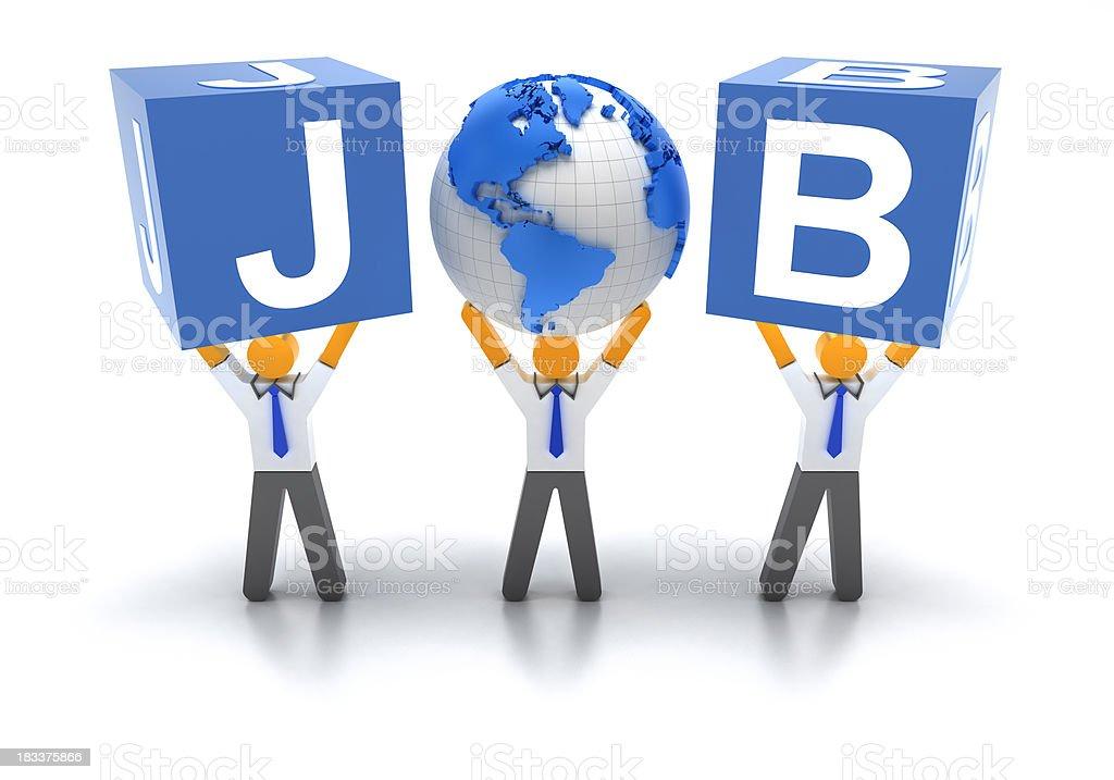 Global jobs royalty-free stock photo