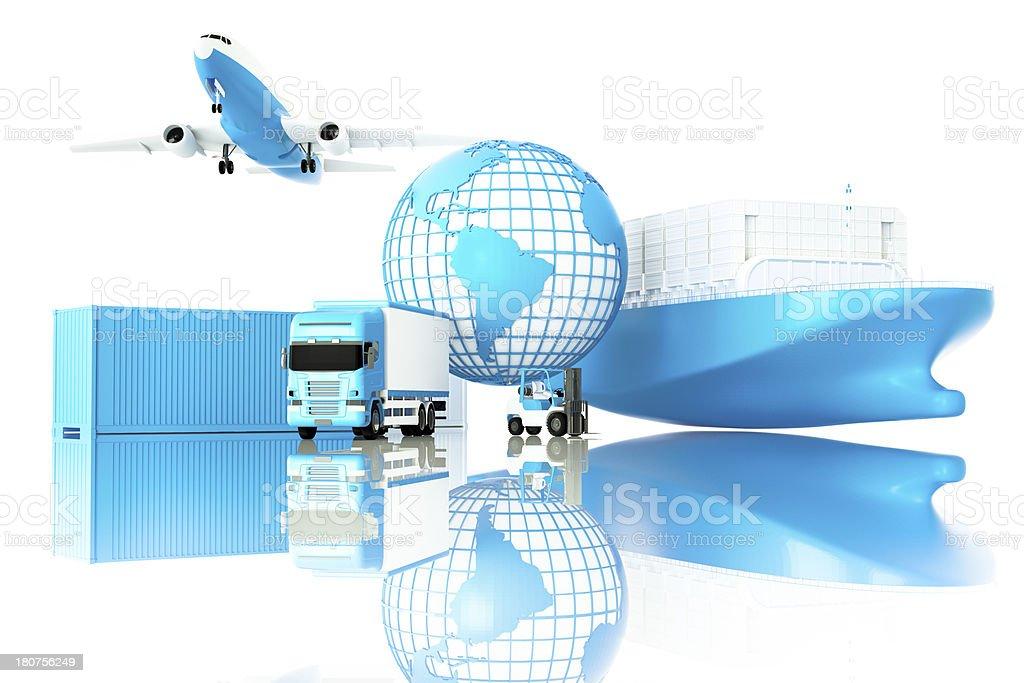 Global logistics royalty-free stock photo