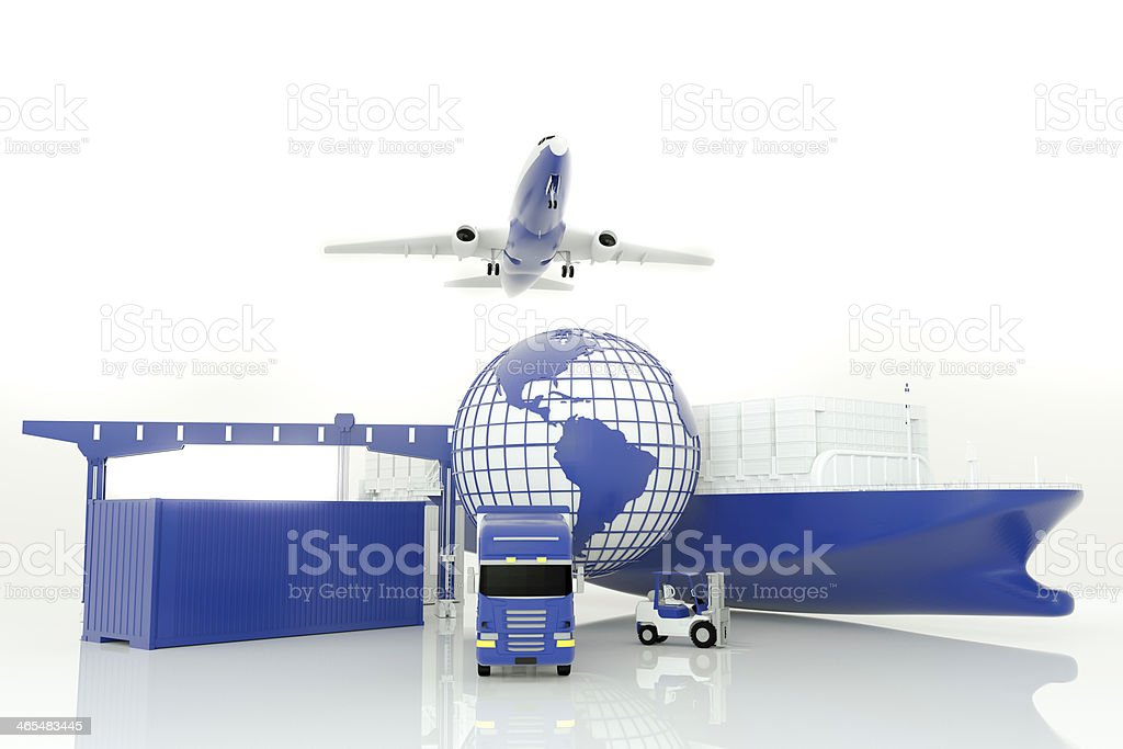 Global logistics royalty-free stock photo