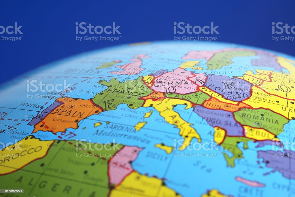 Map Of Germany And Surrounding Countries.Global Mapgermany Amp Neighboring Countries Stock Photo More
