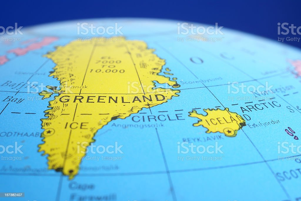 global map greenland iceland royalty free stock photo