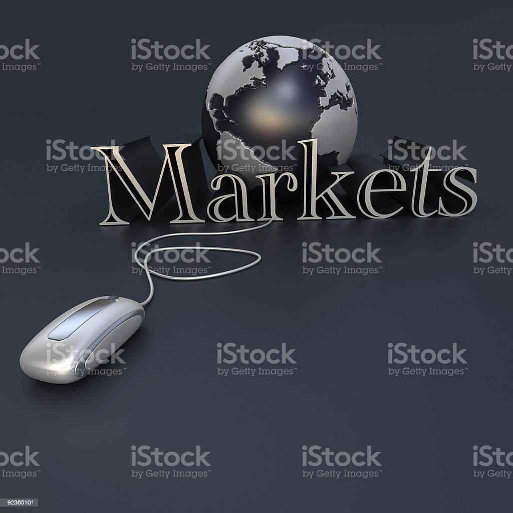 Global market Lizenzfreies stock-foto