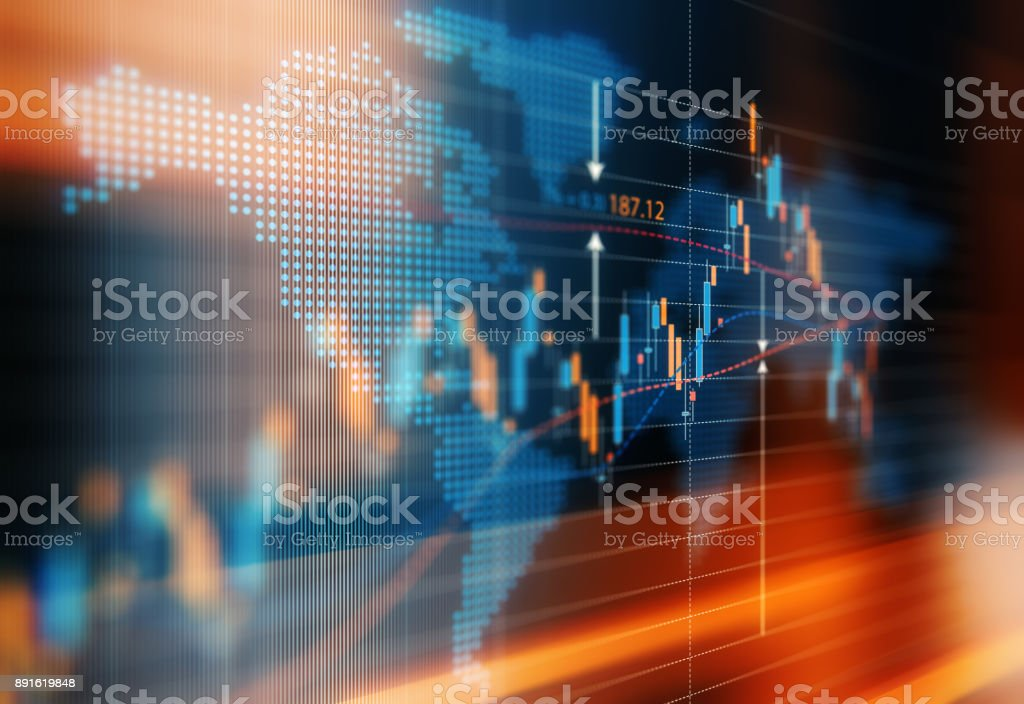 Global Market Trends royalty-free stock photo