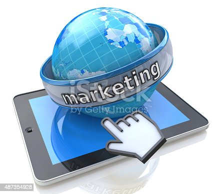 813402032istockphoto Global Marketing with tablet computer 487354928