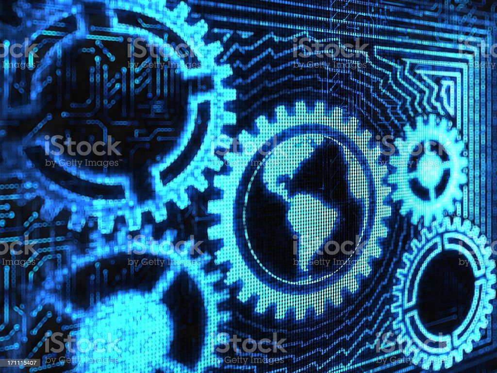 global mechanism royalty-free stock photo