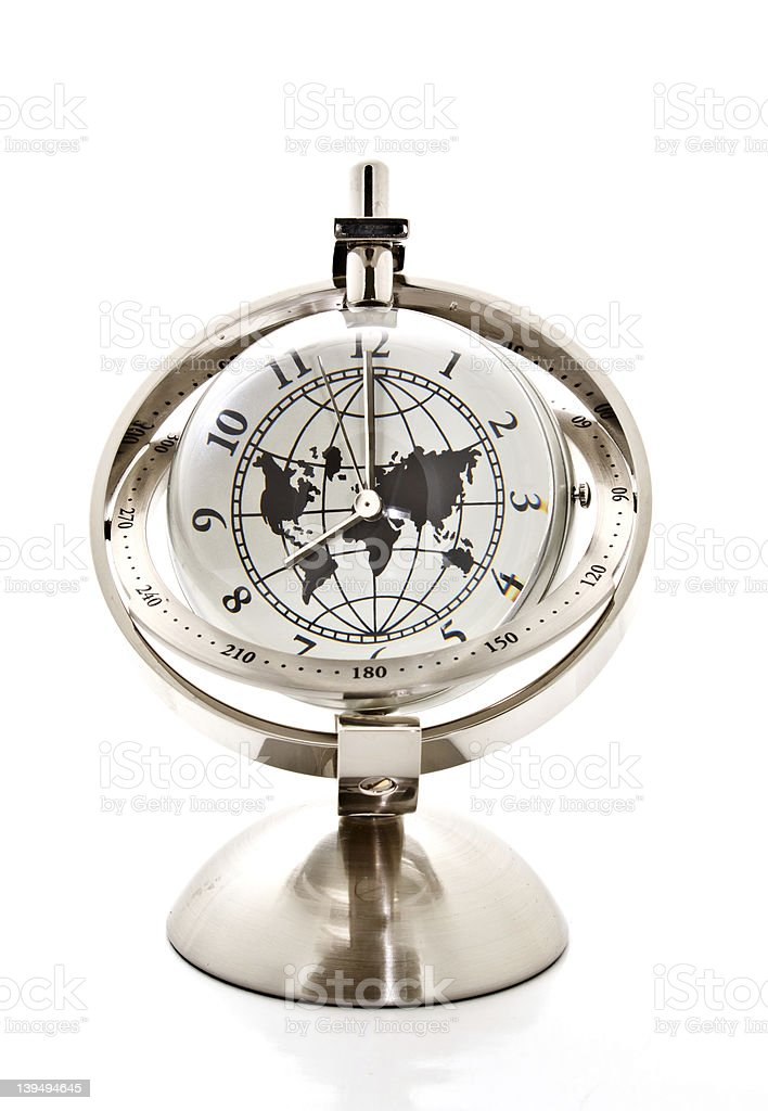 global model clock with stand stock photo