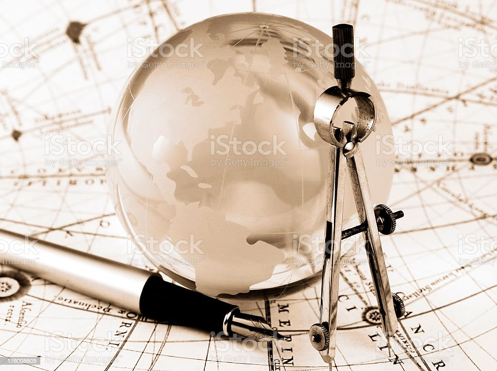 Global navigation royalty-free stock photo