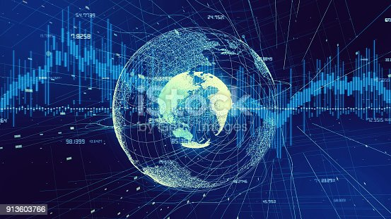 istock Global network and financial technology concept. 913603766